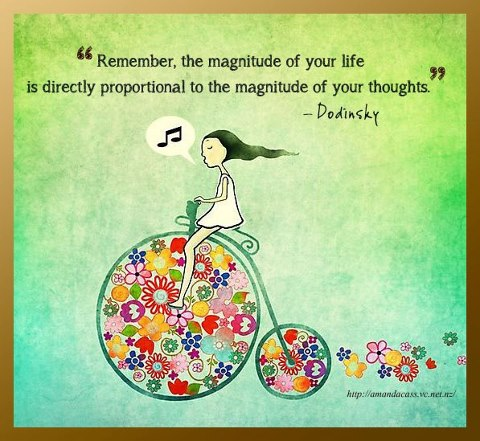 The magnitude of your thoughts