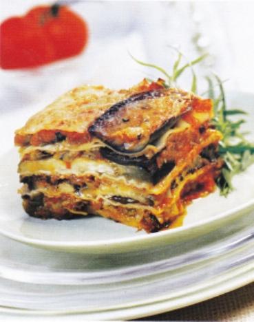 Eggplant Tomato & Leek Lasagne