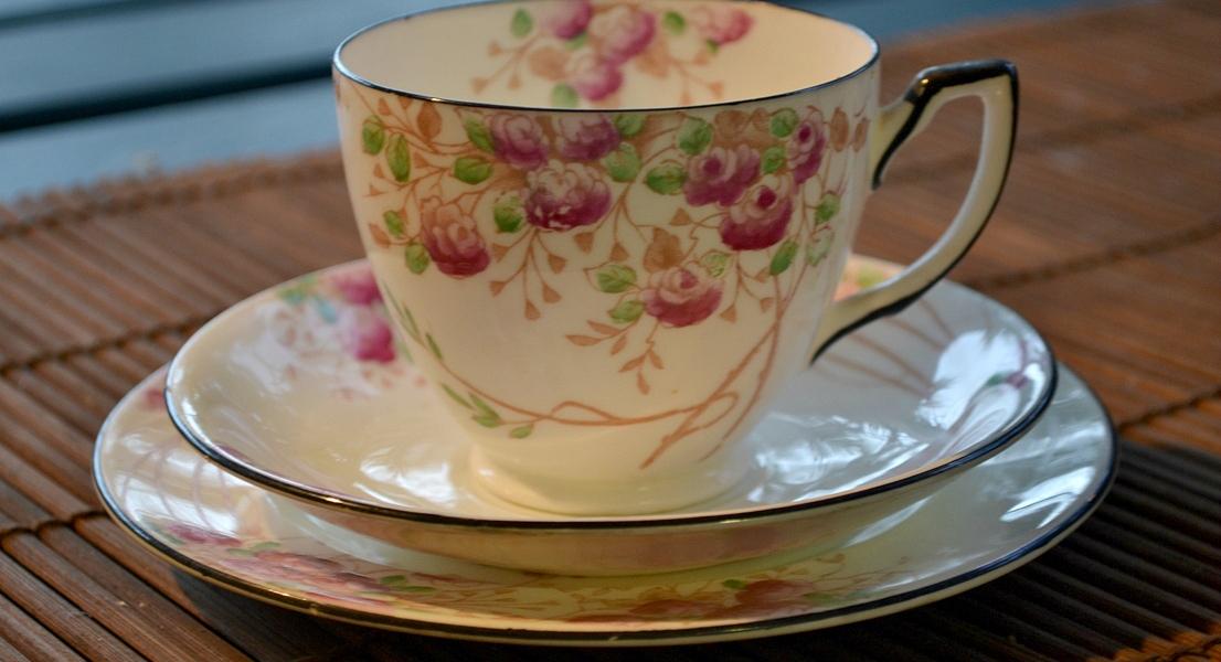 bone china, tea cup saucer and plate