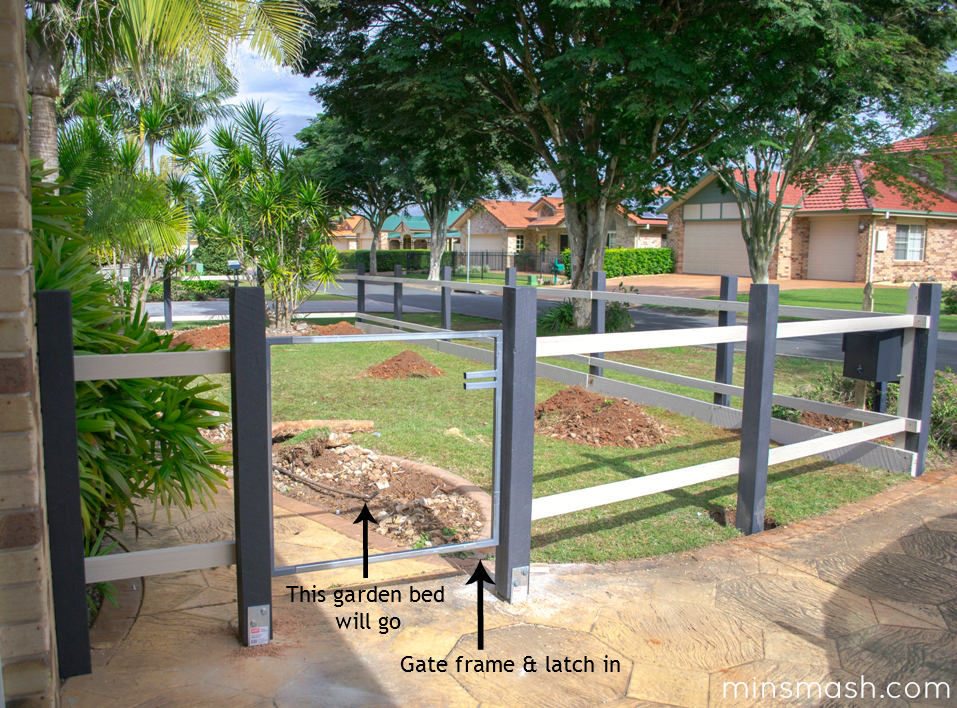 Fence and gate in progress