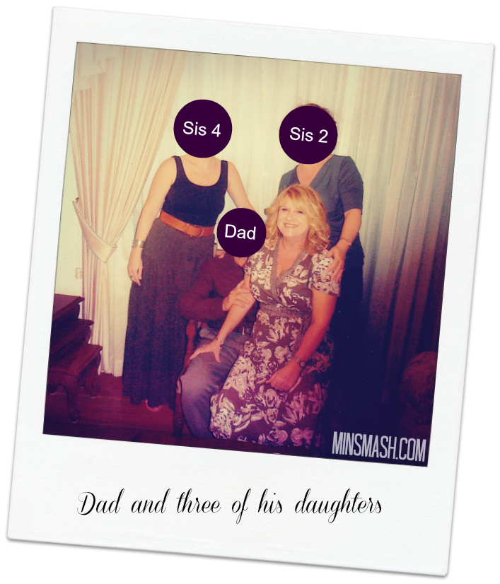 dad and daughters