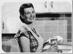 1950s woman cleaning