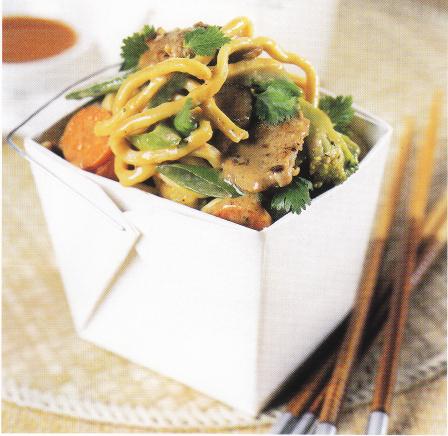 Satay Pork & Noodle StirFry