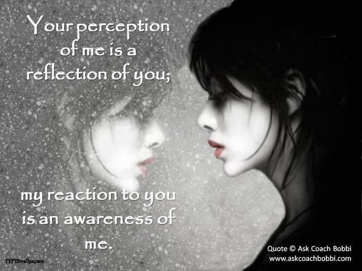Perception, Reaction, Awareness, Quote