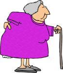old lady with arthritis