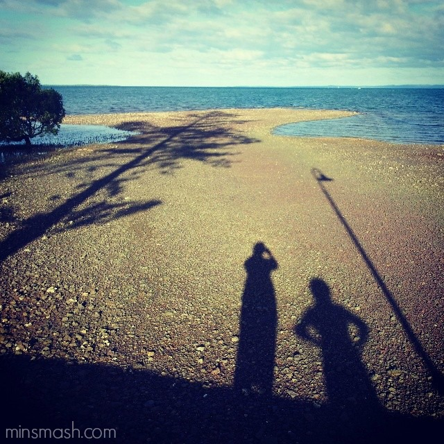 shadows, waterfront