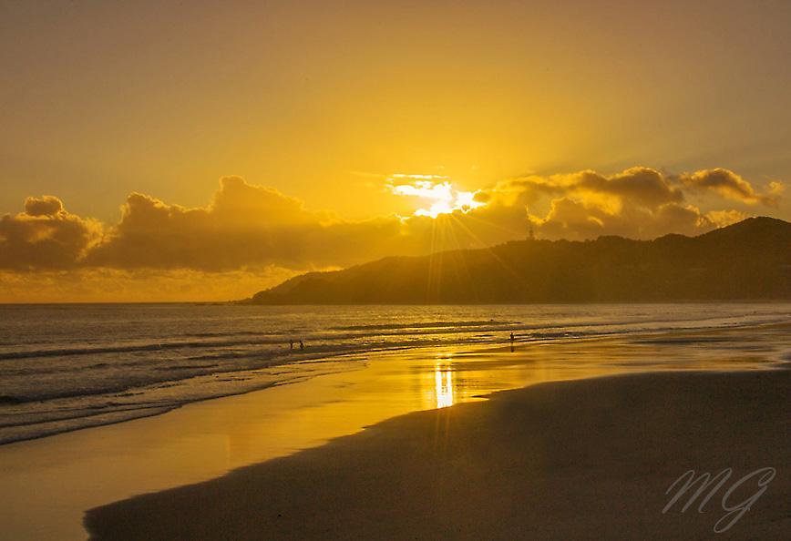sunrise, beach, byron bay, australia, nsw