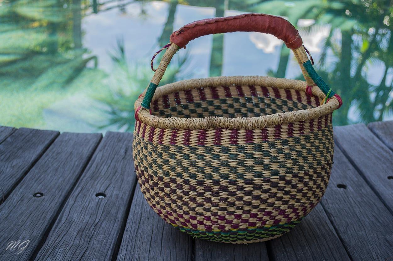 basket, african woven basket