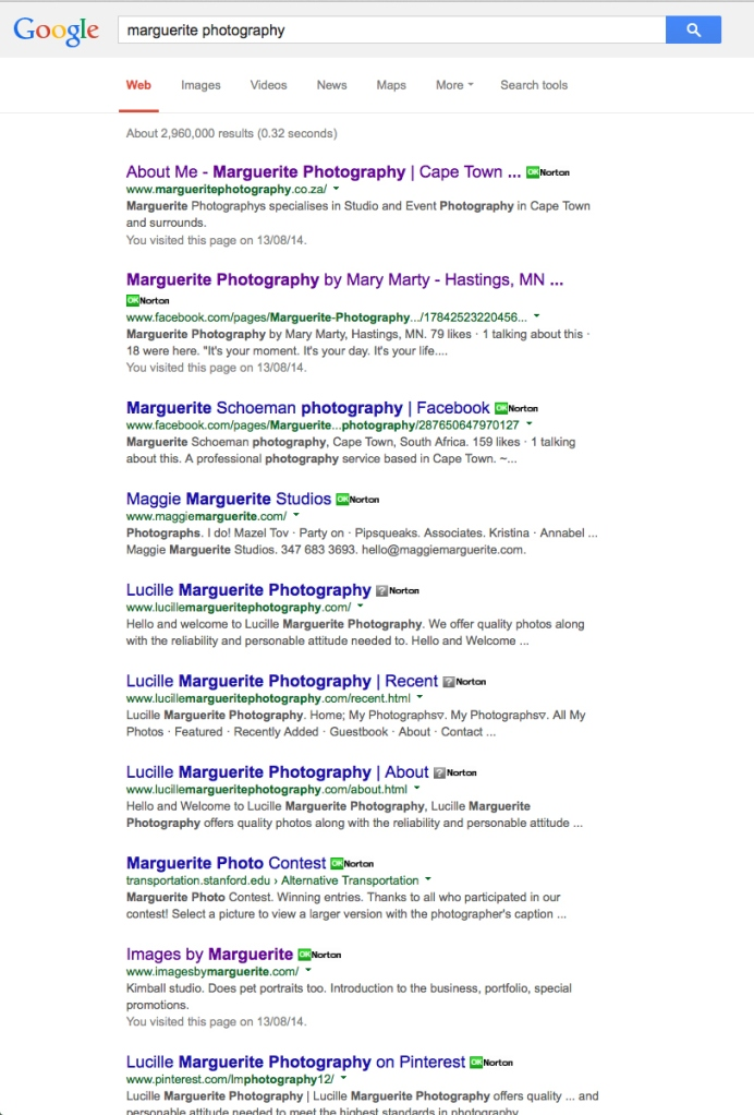 MargueritePhotographyGoogleSearch